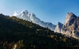 Kusum Kanguru mountain from Phakding in the Khumbu region, Nepal - 194582331