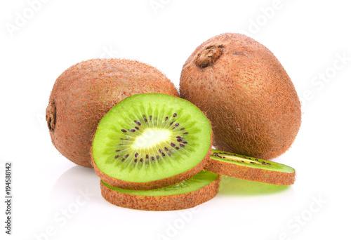 kiwi fruit on white background