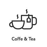 Coffee Tea Mug Cup Hot Breakfast Minimal Flat Line Outline Stroke Icon