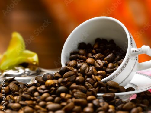 Tuinposter Koffiebonen chicchi di caffe'