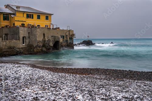 Fotobehang Liguria Snowy Boccadasse