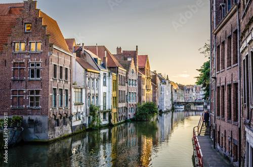 Deurstickers Brugge Belgian town of Gent