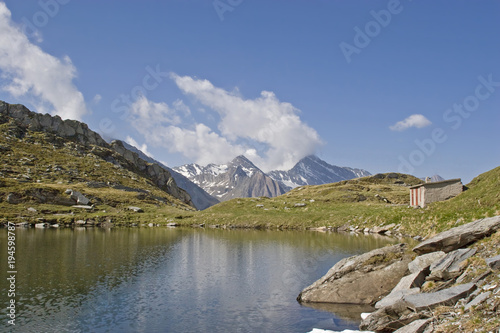 Staande foto Bergen Bergsee auf dem Pfitscher Joch