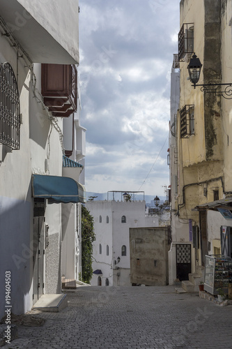 In de dag Marokko Streets, corners, details and corners of Tanger