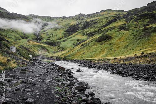 Fotobehang Bergrivier Iceland landscapes mountains