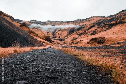 Foto op Canvas Diepbruine Iceland landscapes mountains