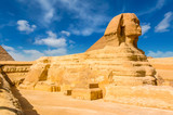 Egyptian sphinx. Cairo. Giza. Egypt. Travel background. Architectural monument. The tombs of the pharaohs. Vacation holidays background wallpaper - 194613179