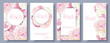 Romantic flowers banner set