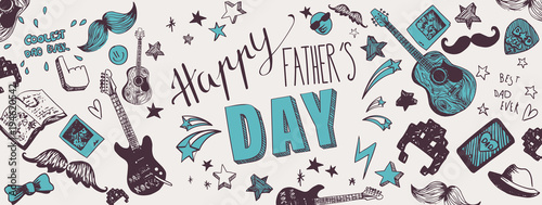Foto op Canvas Graffiti Happy Father's Day background
