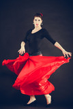 Beautiful woman dancing oriental dance. - 194625947
