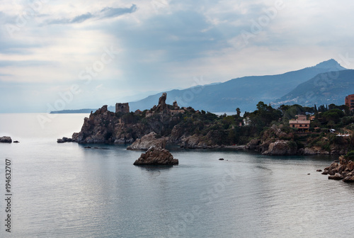 Fotobehang Palermo Cefalu coast view Sicily, Italy