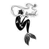 Stylized Marine Princess Beauty Mermaid Wall Sticker