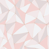 Fototapety Geometric seamless pattern. Abstract Polygonal background. Triangle vector Pastel backdrop.