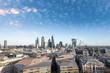 Aerial view of London skyline