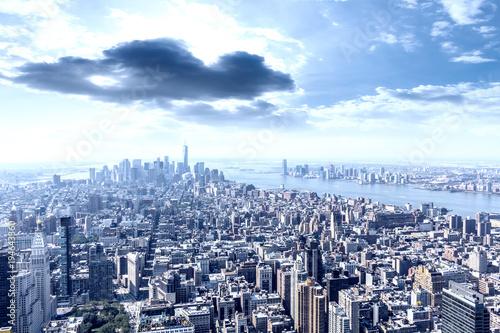 Manhattan air view