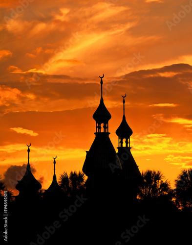 Muslim mosque minarettes. © Allen