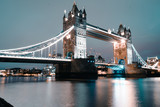 different prospective of the Tower Bridge in London, iconic and world famous bridge shooted between sunset and evening