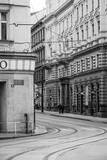the historical center of Prague in Black and white, Czech republic - 194652154