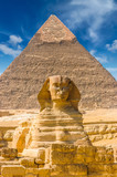 Egyptian sphinx. Cairo. Giza. Egypt. Travel background. Architectural monument. The tombs of the pharaohs. Vacation holidays background wallpaper - 194683178