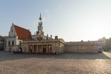 Poznan, Poland - the Old Market Town Hall on a beautiful morning.
