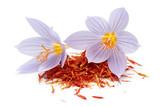 Saffron with crocus flower - 194702993