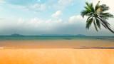 tropical paradise beach with caribbean sea and coconut palm - 194719354