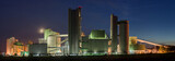 Cement Factory Panorama At Night - 194724577