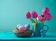 Easter holiday concept with tulip flowers