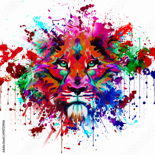 Aluminium Reznik Цвет руки тигра, абстрактные иллюстрации