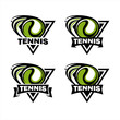 Tennis Triangle Badge Logo