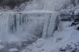 Snow covered Niagara Falls