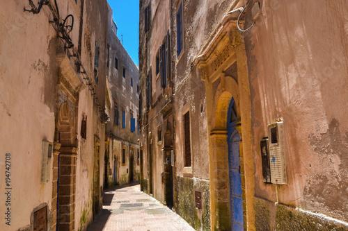 Fotobehang Smalle straatjes Essaouira City (Morocco)