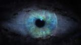open eye in space