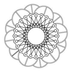 Decorative colorless mandala
