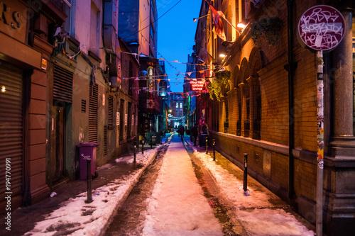 Fotobehang Smalle straatjes 横道