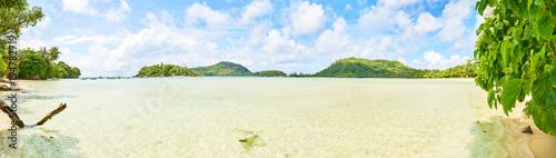 Tropical beach of Anse L'islette (Port launey road) , Mahe Seychelles - 194782719