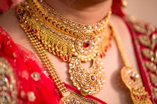 Foto Murales Bride's Jewelery in Indian Wedding