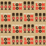 London seamless retro pattern with soldiers - 194803118