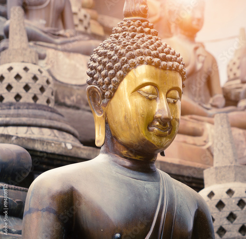 Plexiglas Boeddha buddha face statue closeup