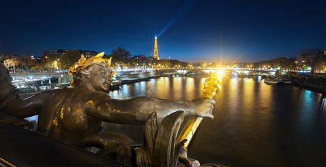 Alexandre 3 bridge details in Paris, France
