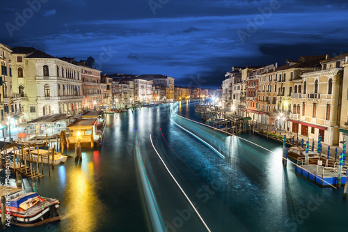 Foto op Aluminium Venetie VIew from rialto brige venice italy on canal grande grand canal at night
