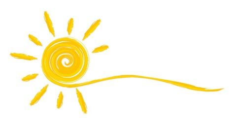 Summer bright sun. © designer_an