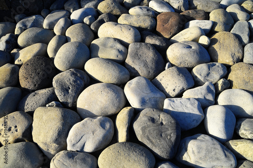 Foto op Canvas Stenen Round Rocks Smoothed by the Water