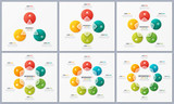 Set of circle chart templates with 3 4 5 6 7 8 options. Global s - 194825729