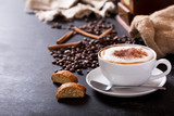 Cup of cappuccino coffee - 194828728