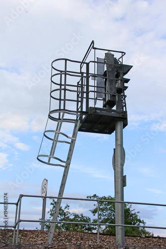 Fotobehang Spoorlijn signalisation, ferroviaire,