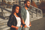 Young couple posing in the city - 194849141