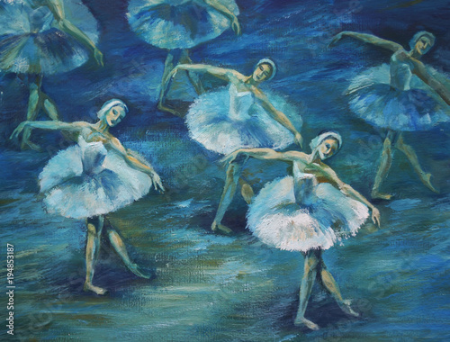 ballet Painting Acrylic and Full spectrum on Cardboard - 194853187