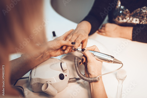 Fotobehang Manicure Manicure Process