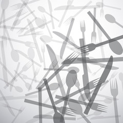 Vector restaurant, tableware. Background
